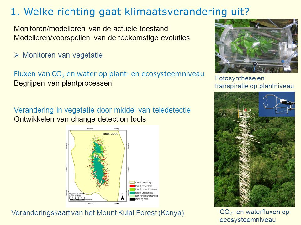 1. Welke richting gaat klimaatsverandering uit