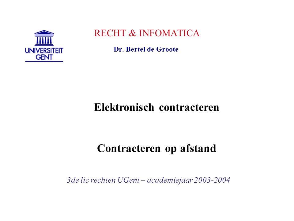 Elektronisch contracteren Contracteren op afstand