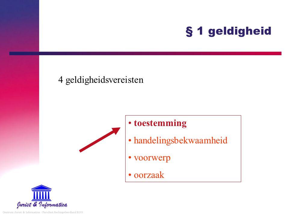 § 1 geldigheid 4 geldigheidsvereisten toestemming