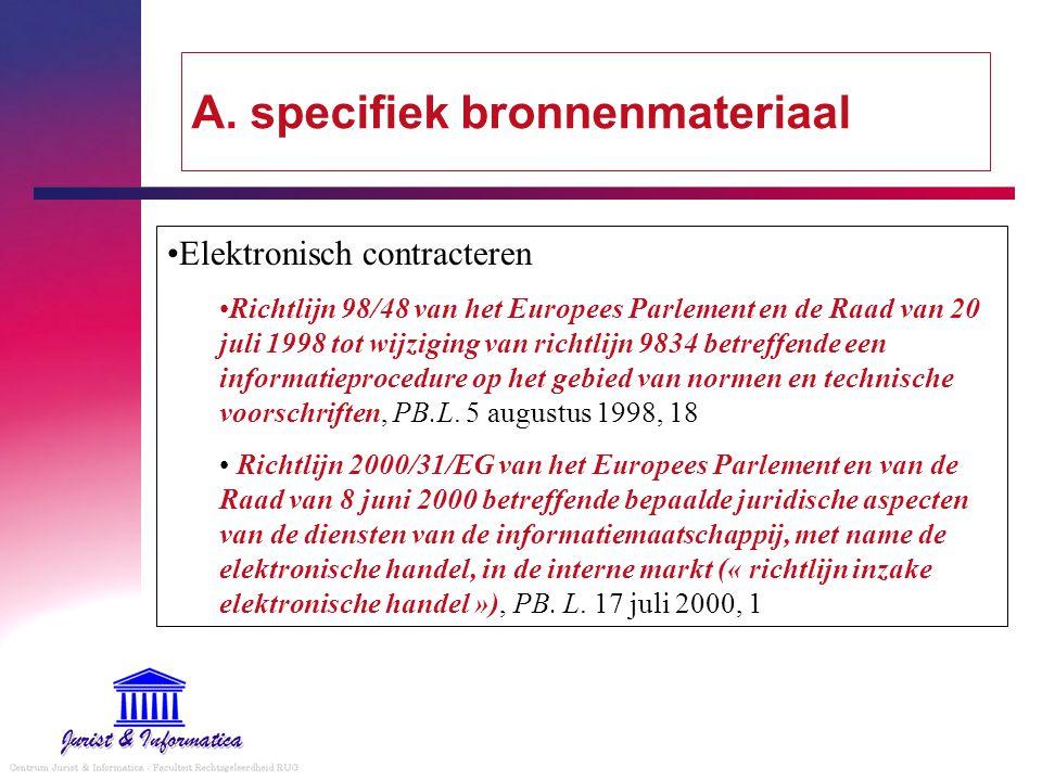 A. specifiek bronnenmateriaal