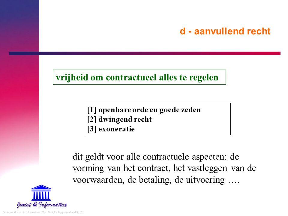 vrijheid om contractueel alles te regelen