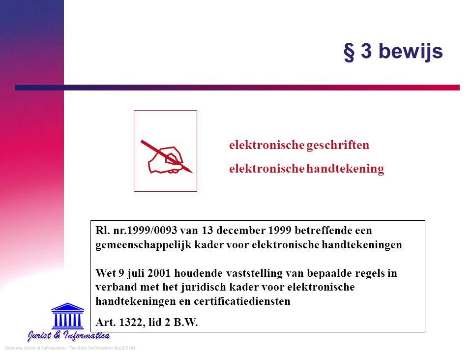  § 3 bewijs elektronische geschriften elektronische handtekening