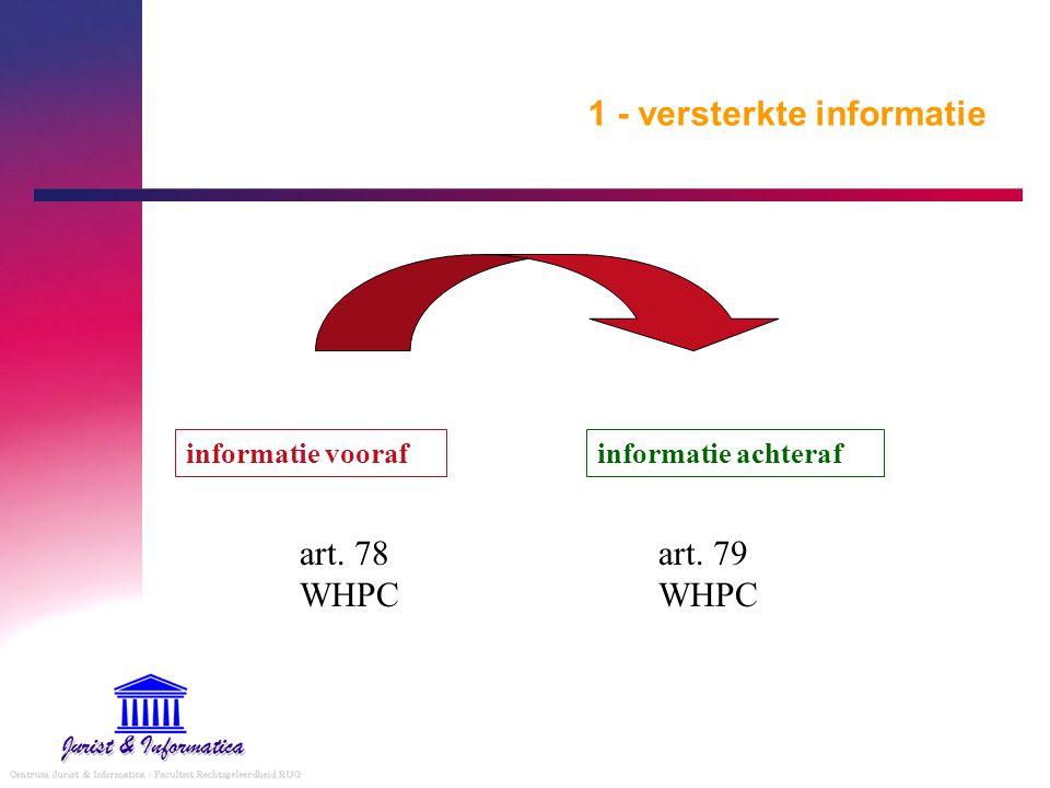 1 - versterkte informatie