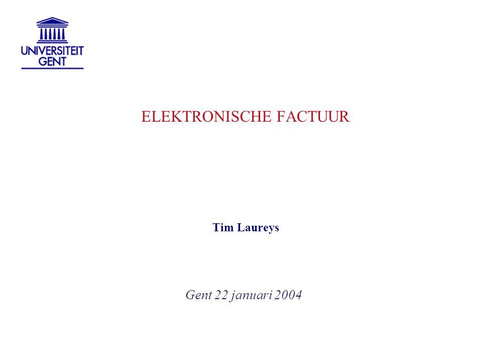 ELEKTRONISCHE FACTUUR
