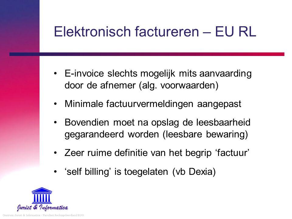Elektronisch factureren – EU RL