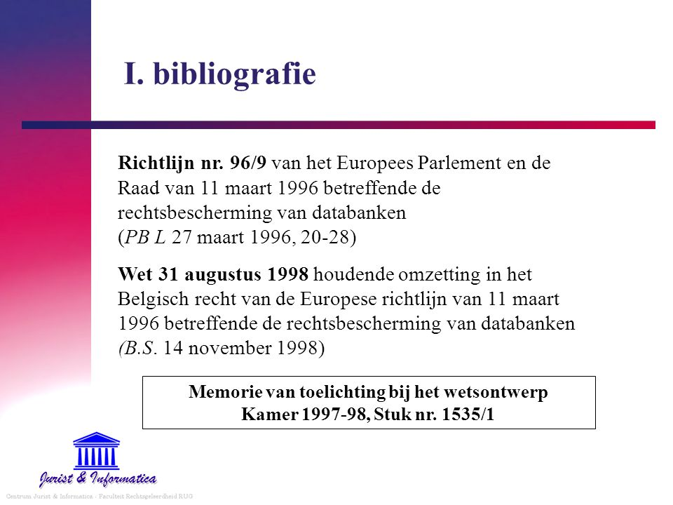 I. bibliografie