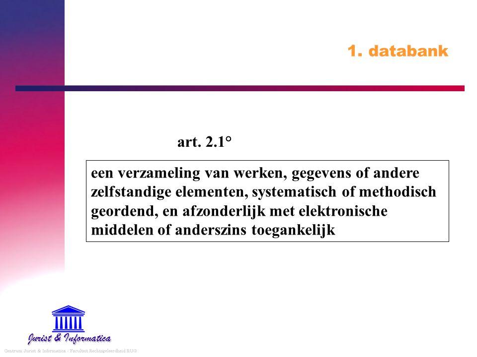 1. databank art. 2.1°