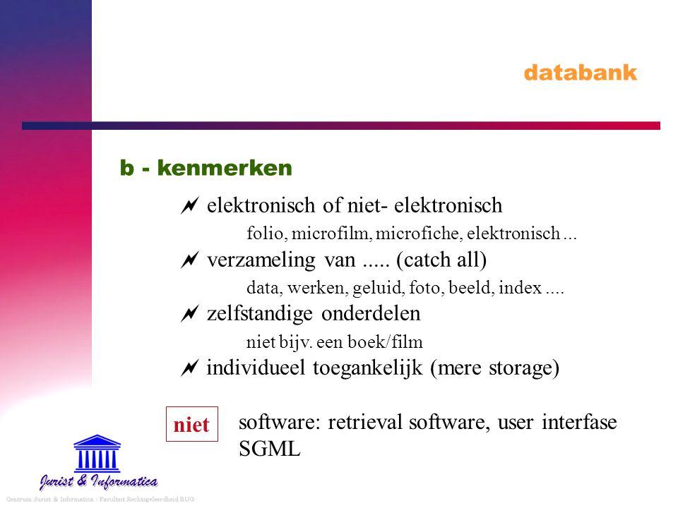 databank b - kenmerken.