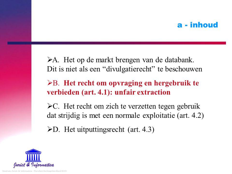 D. Het uitputtingsrecht (art. 4.3)