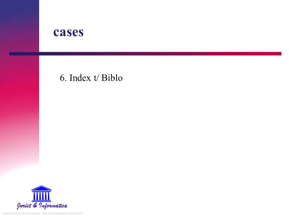 cases 6. Index t/ Biblo I. FULL TEXT