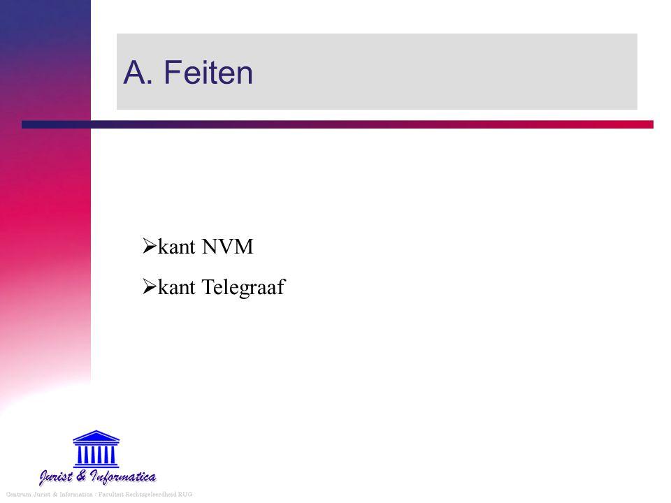 A. Feiten kant NVM kant Telegraaf