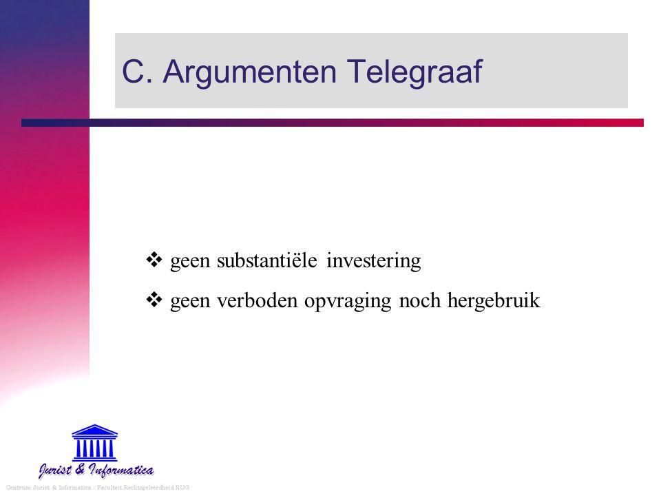 C. Argumenten Telegraaf