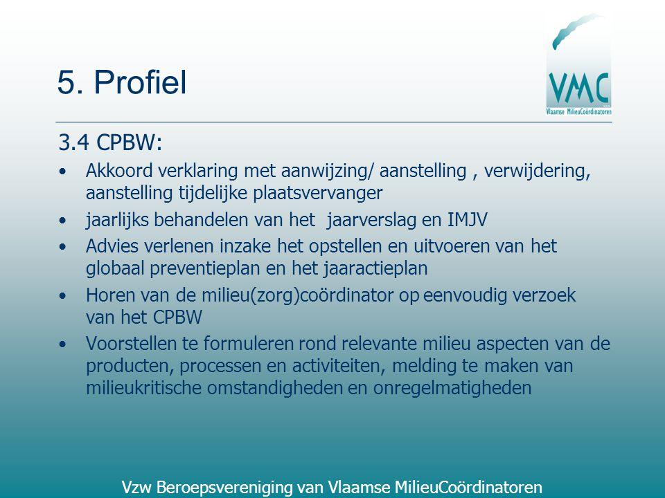 5. Profiel 3.4 CPBW: Akkoord verklaring met aanwijzing/ aanstelling , verwijdering, aanstelling tijdelijke plaatsvervanger.