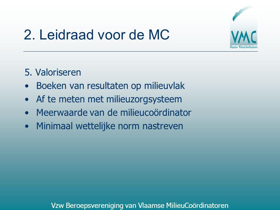 2. Leidraad voor de MC 5. Valoriseren