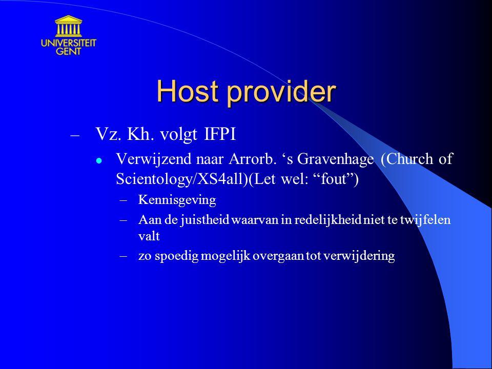 Host provider Vz. Kh. volgt IFPI
