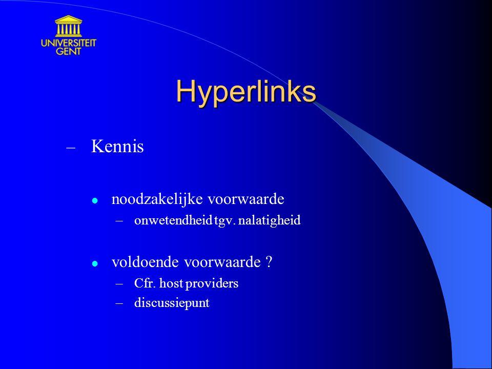 Hyperlinks Kennis noodzakelijke voorwaarde voldoende voorwaarde