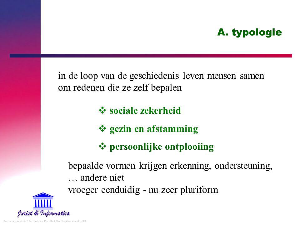 A. typologie in de loop van de geschiedenis leven mensen samen om redenen die ze zelf bepalen. sociale zekerheid.