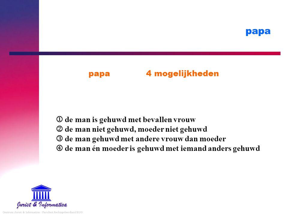 papa papa 4 mogelijkheden
