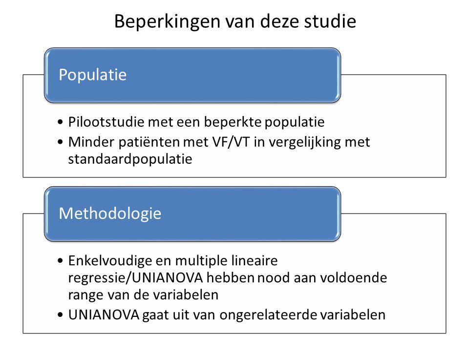 Beperkingen van deze studie