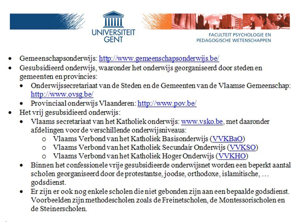 Rol netten, koepels, … Maar: opletten Freinetscholen in Gent maken deel uit van het Officieel Onderwijs (Stedelijk) en zijn geen Vrij Onderwijs.