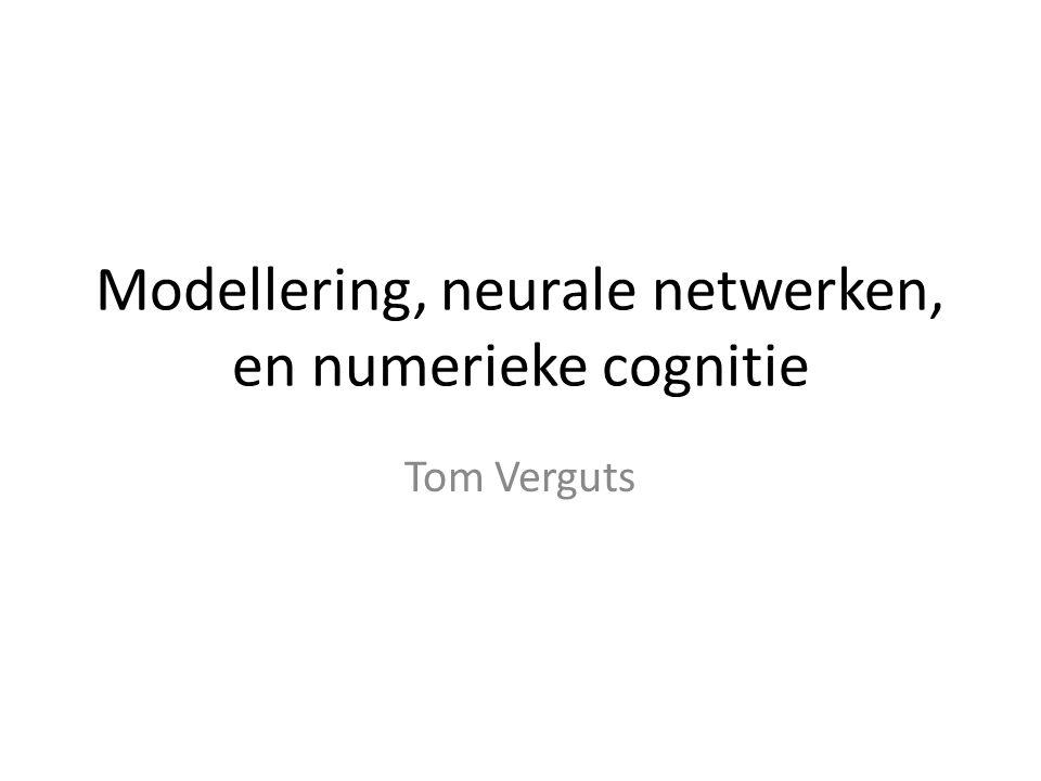 Modellering, neurale netwerken, en numerieke cognitie