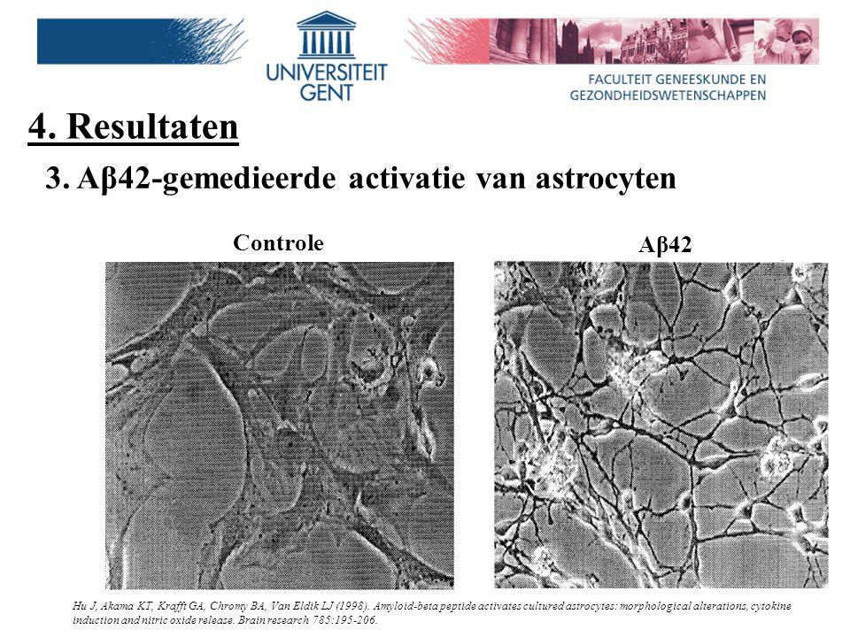 4. Resultaten 3. Aβ42-gemedieerde activatie van astrocyten Controle