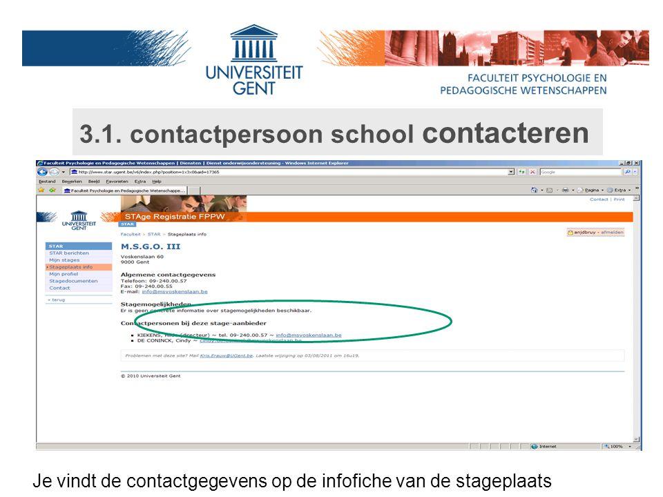 3.1. contactpersoon school contacteren