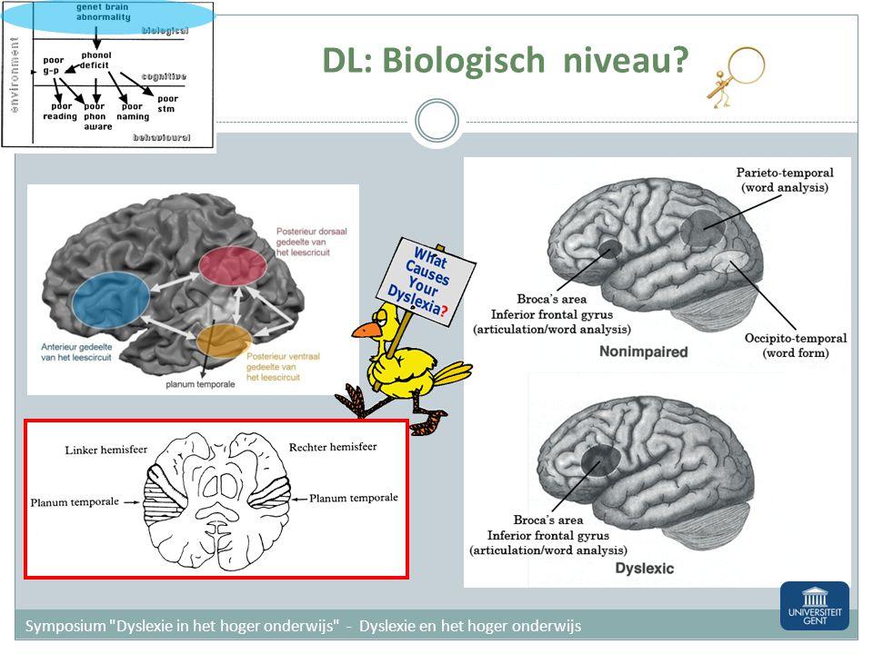 DL: Biologisch niveau.