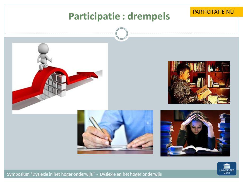 Participatie : drempels