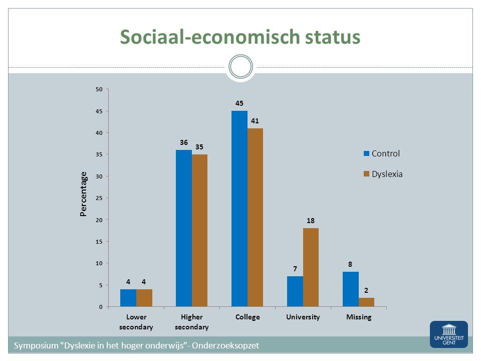 Sociaal-economisch status