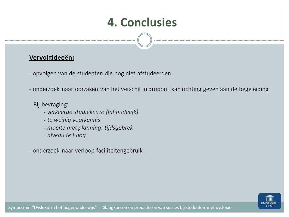4. Conclusies Vervolgideeën: