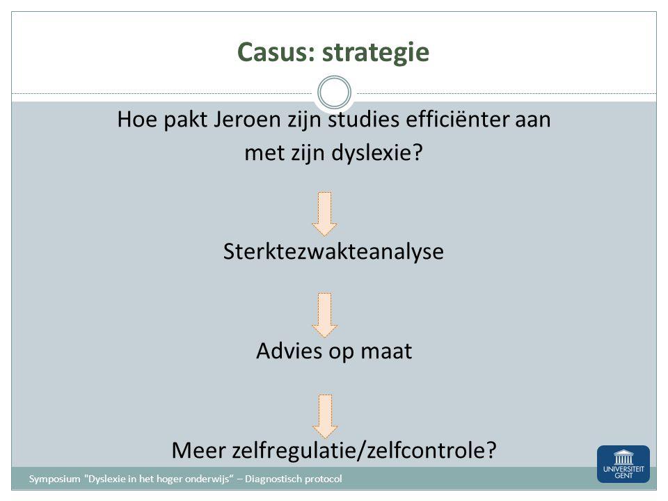Casus: strategie
