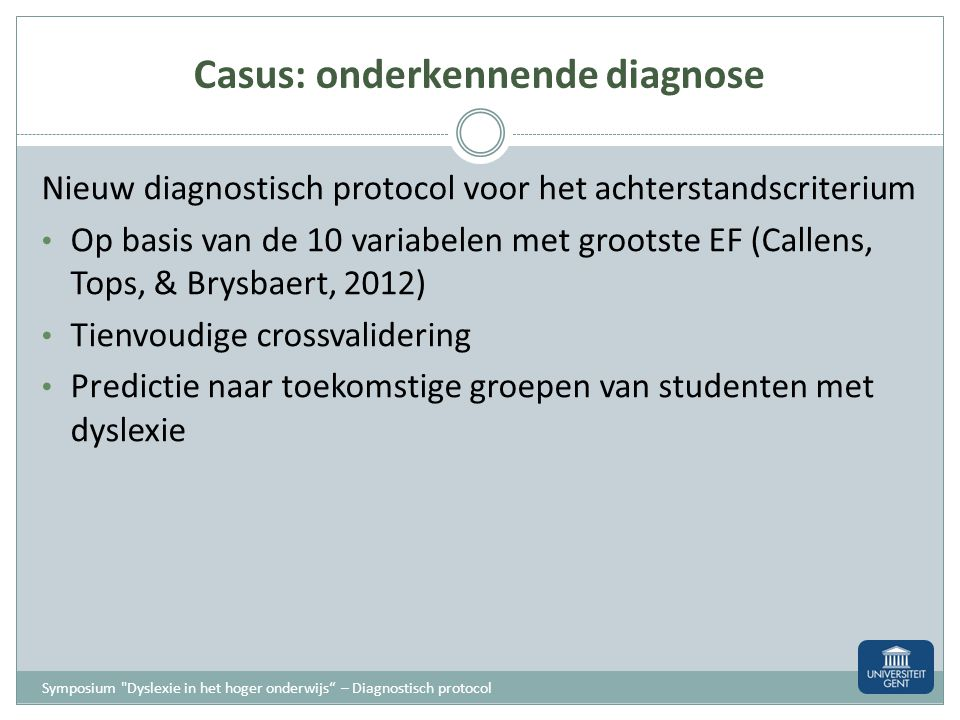 Casus: onderkennende diagnose