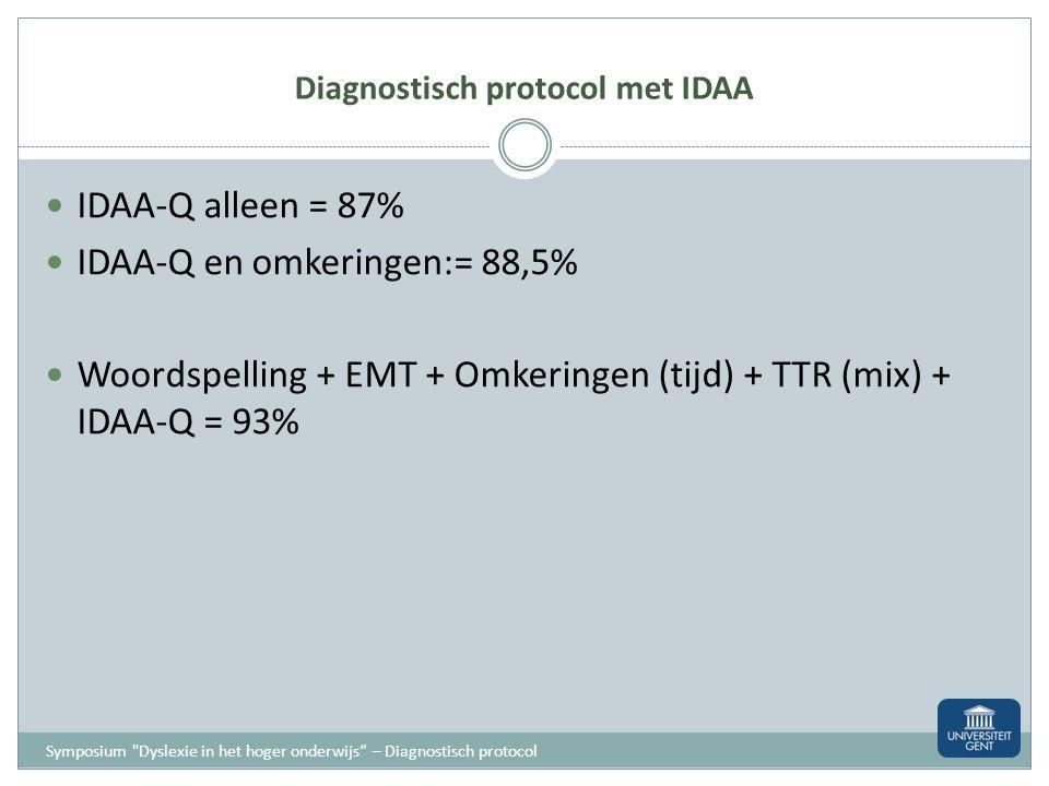 Diagnostisch protocol met IDAA