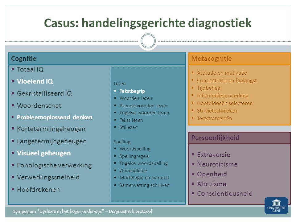 Casus: handelingsgerichte diagnostiek