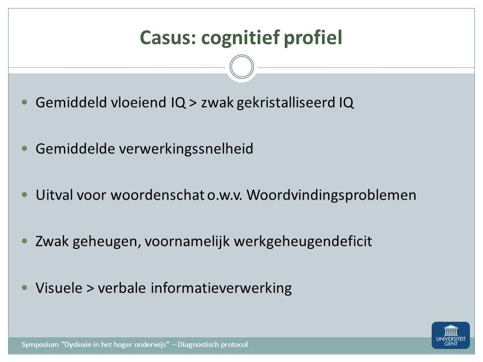 Casus: cognitief profiel