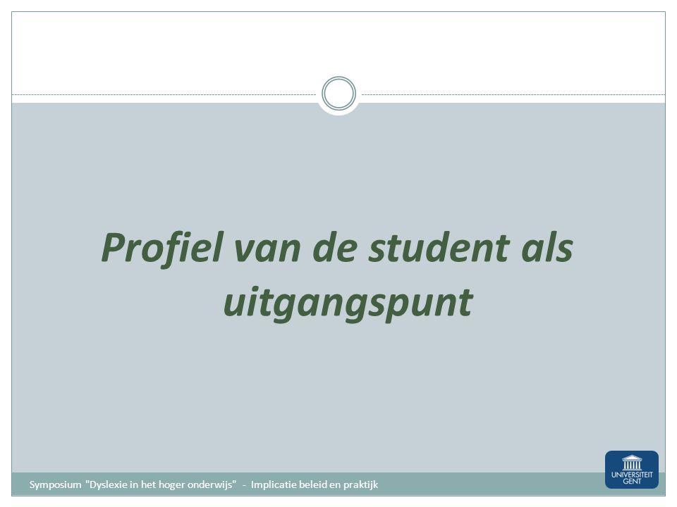 Profiel van de student als uitgangspunt