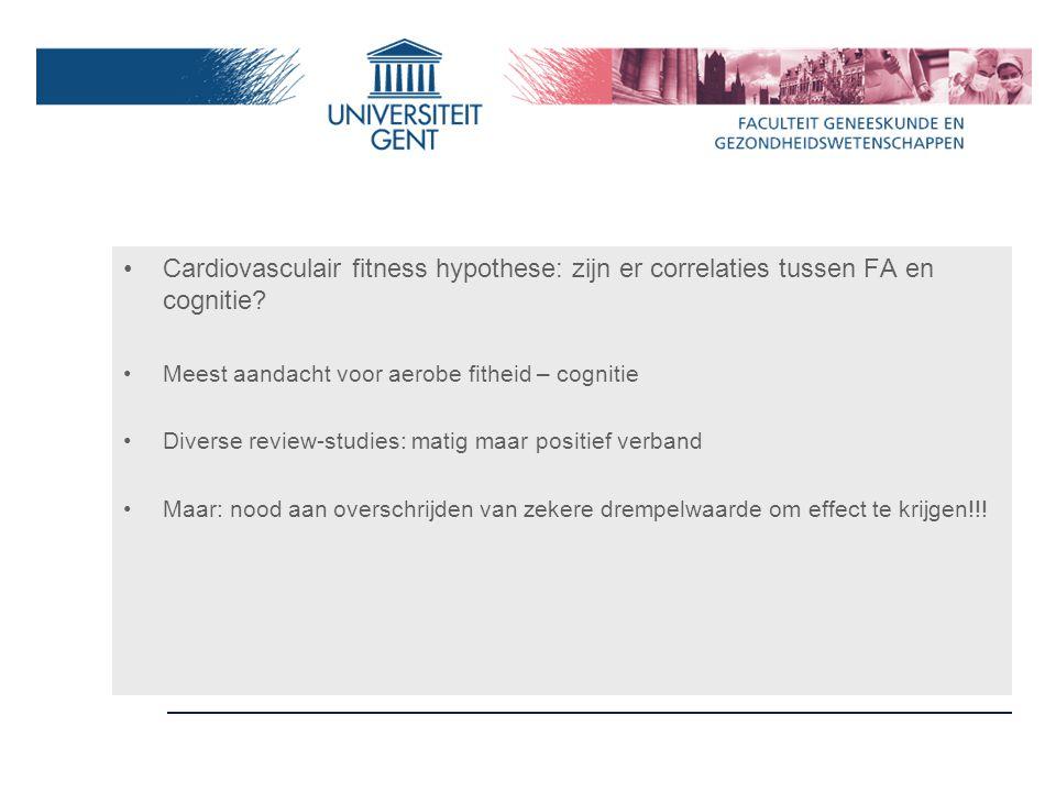 Cardiovasculair fitness hypothese: zijn er correlaties tussen FA en cognitie