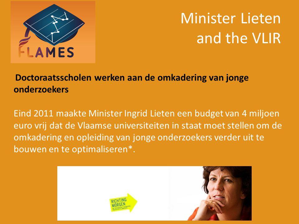 Minister Lieten and the VLIR