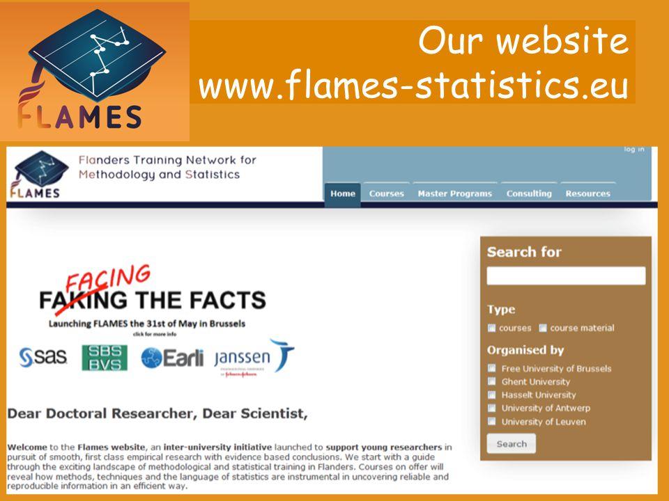 Our website www.flames-statistics.eu
