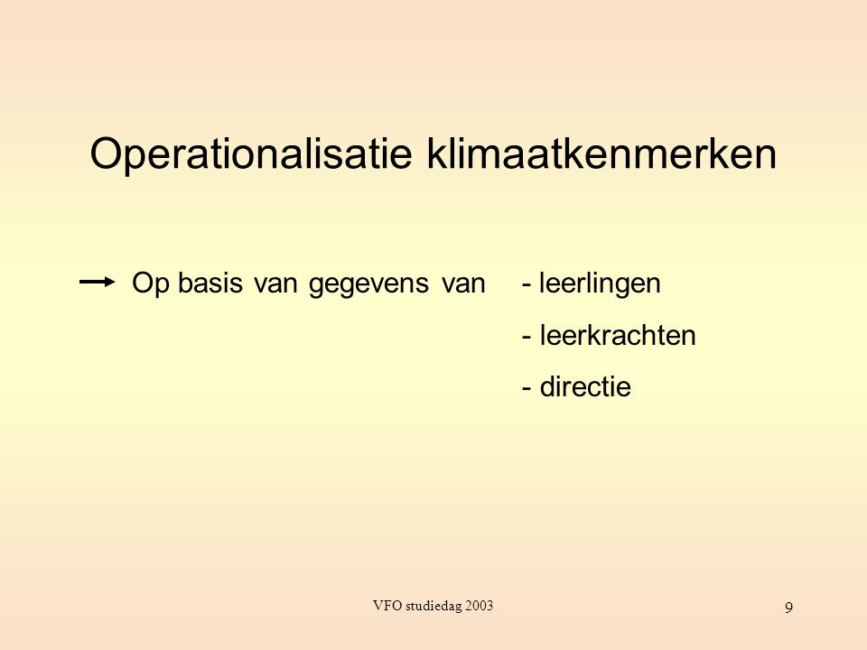 Operationalisatie klimaatkenmerken
