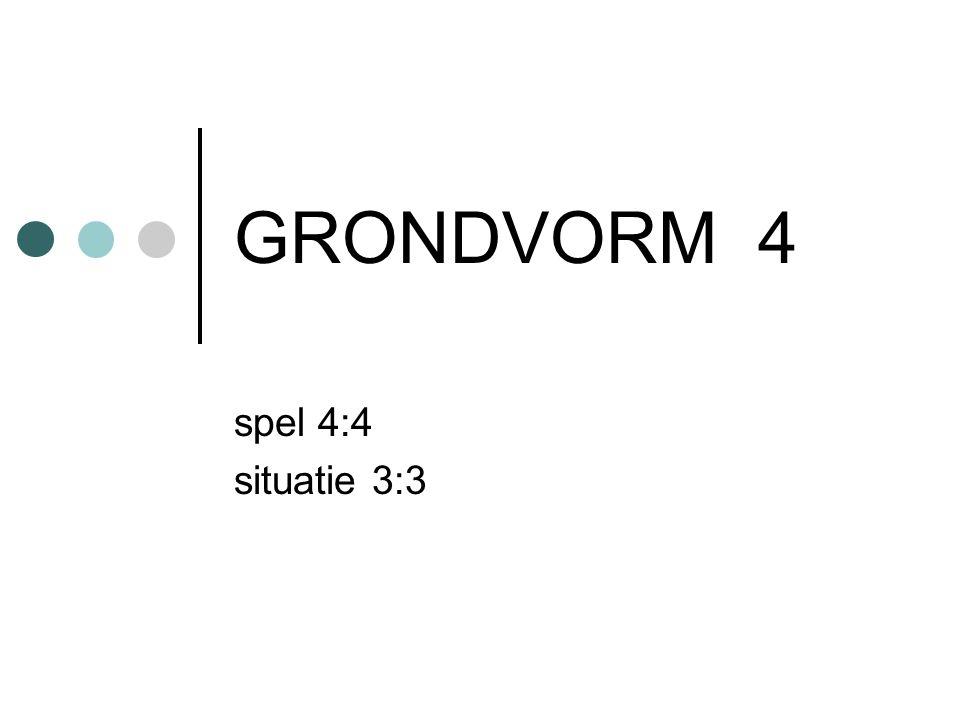 GRONDVORM 4 spel 4:4 situatie 3:3
