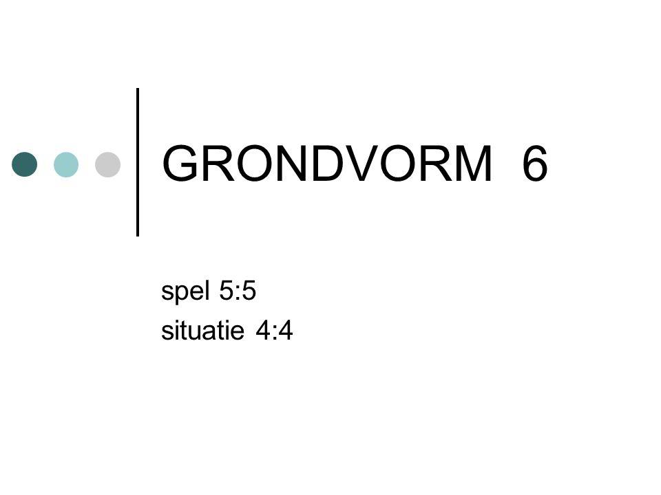 GRONDVORM 6 spel 5:5 situatie 4:4