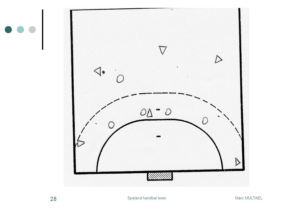 Spelend handbal leren Marc MULTAEL