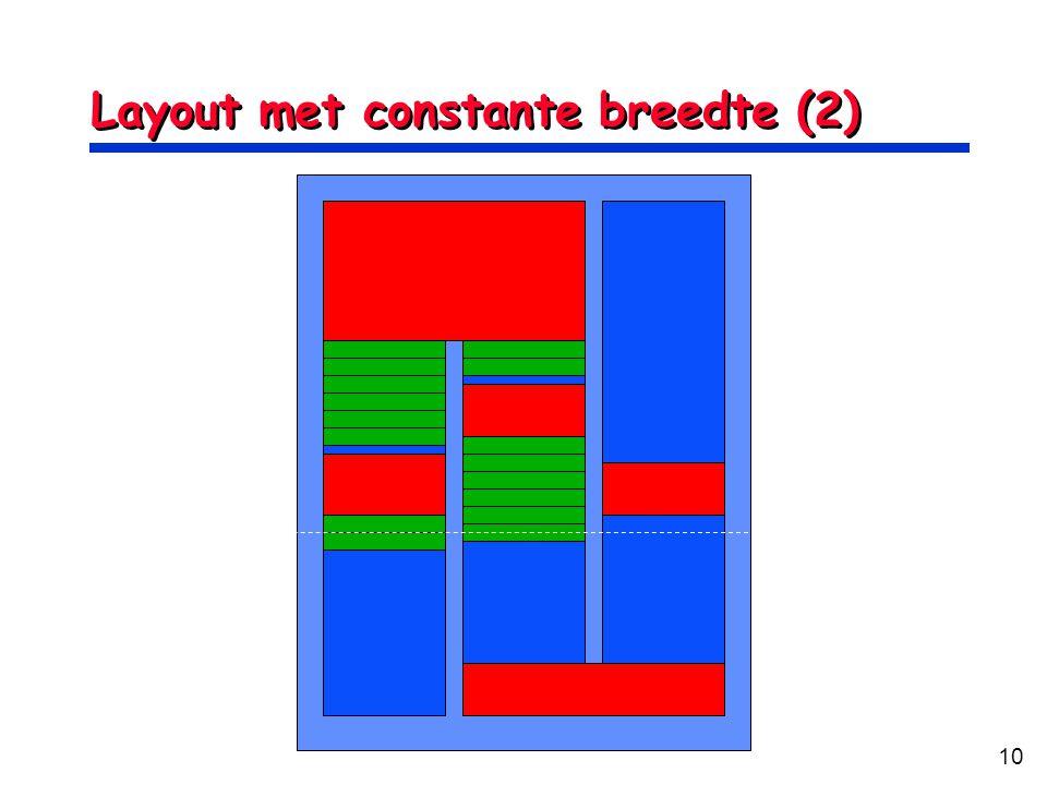 Layout met constante breedte (2)