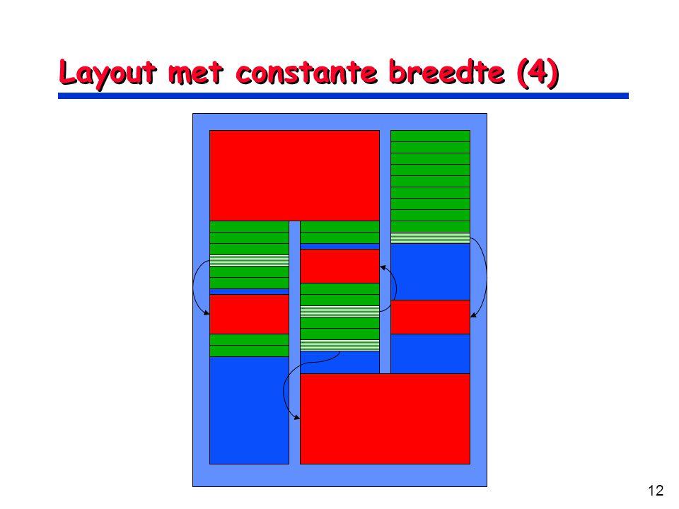 Layout met constante breedte (4)