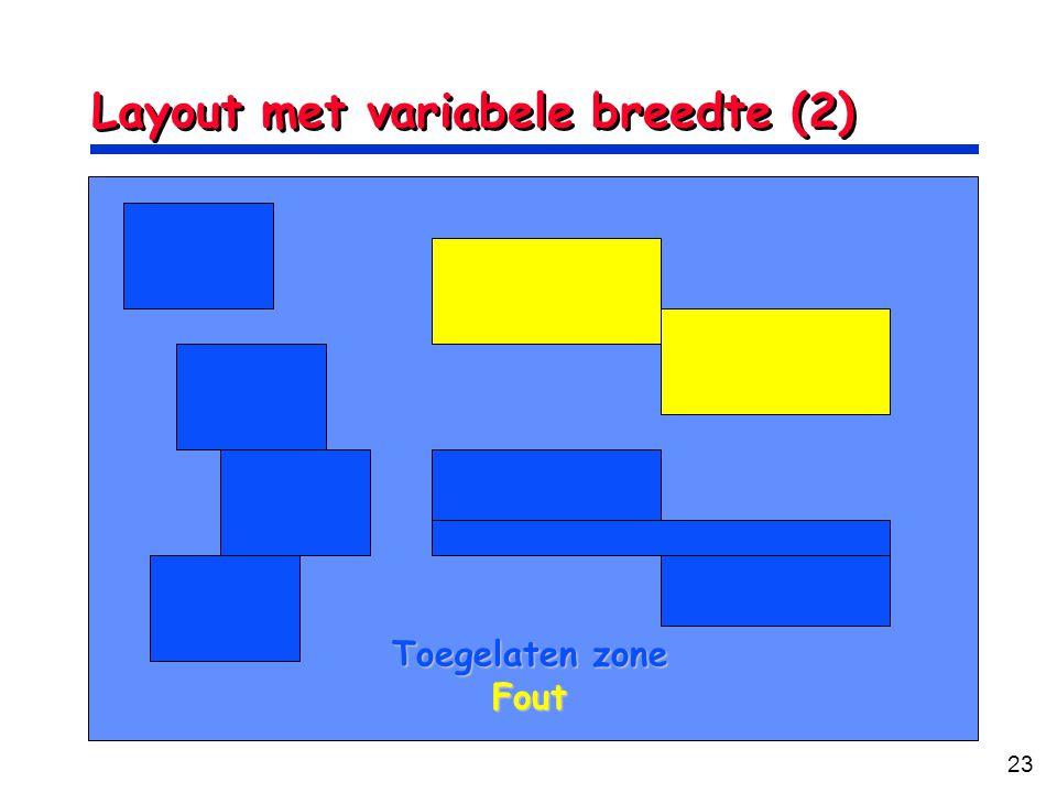 Layout met variabele breedte (2)