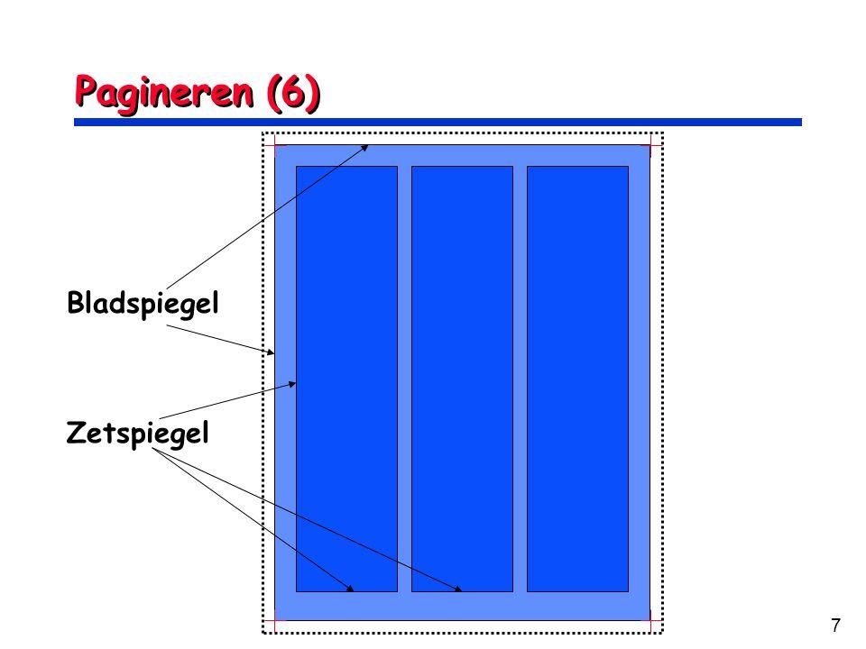 Pagineren (6) Bladspiegel Zetspiegel