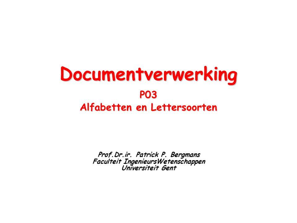 Documentverwerking P03 Alfabetten en Lettersoorten