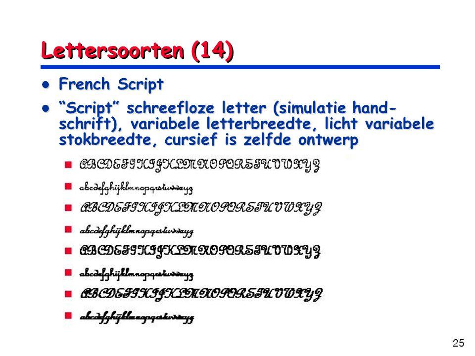 Lettersoorten (14) French Script